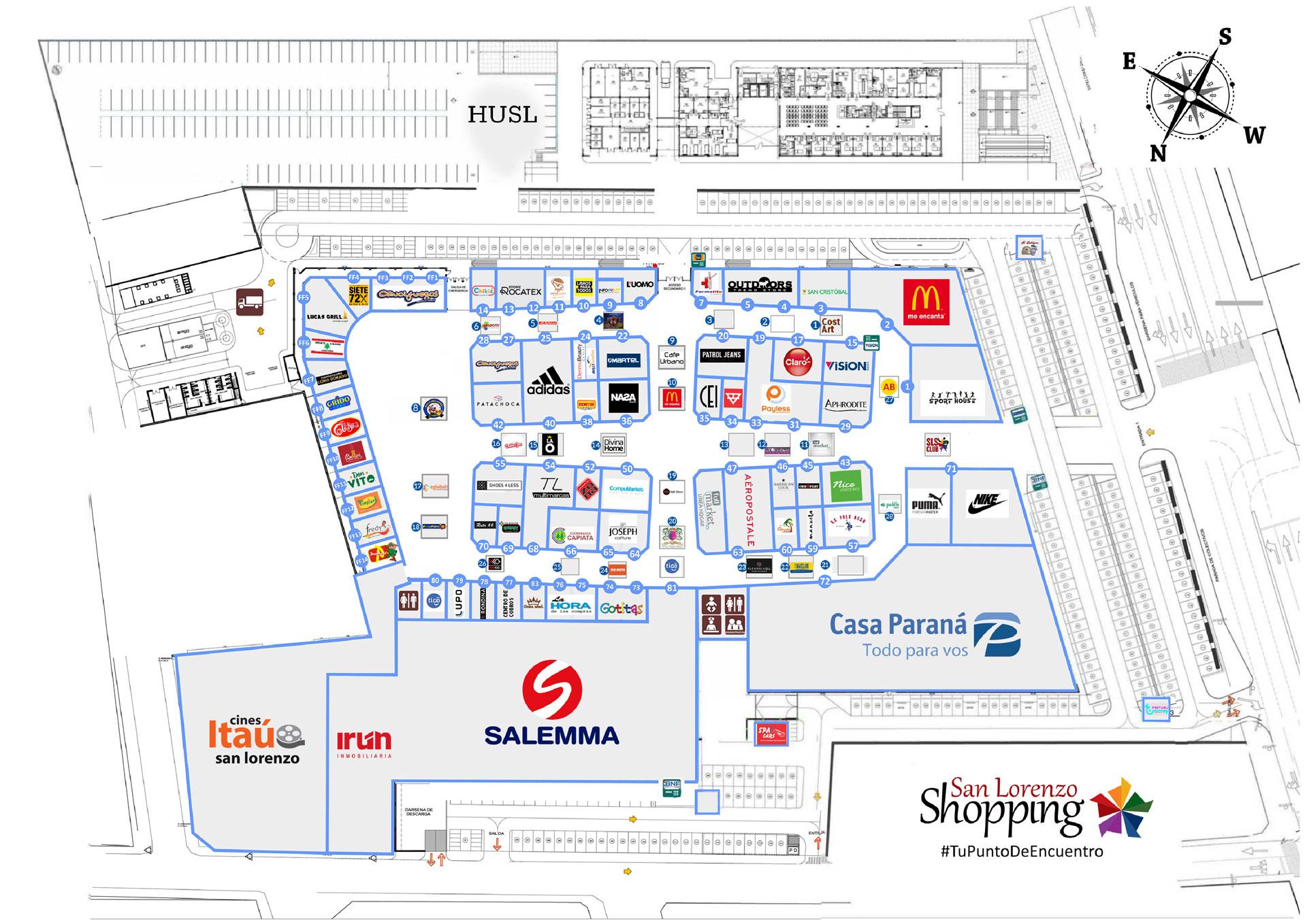 Mapa del Shopping